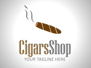 Cigar Store Logo Template