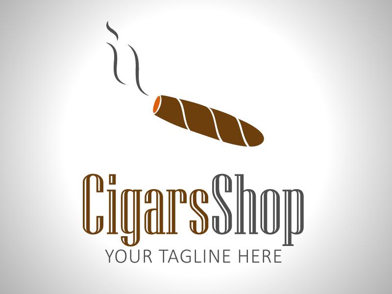 Cigar Store Logo Template