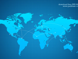 Vector-Shape-World-Map-Background