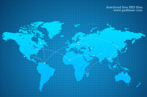 Vector-Shape-World-Map-Background