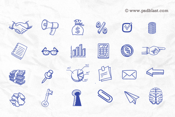 hand-drawn-icon-set
