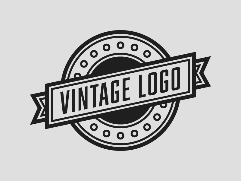 vintage logo template rainbowlogos. Black Bedroom Furniture Sets. Home Design Ideas