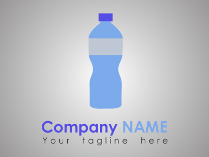 Free Soda Bottle Logo Template