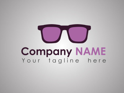 Sunglasses Logo Template Freebie