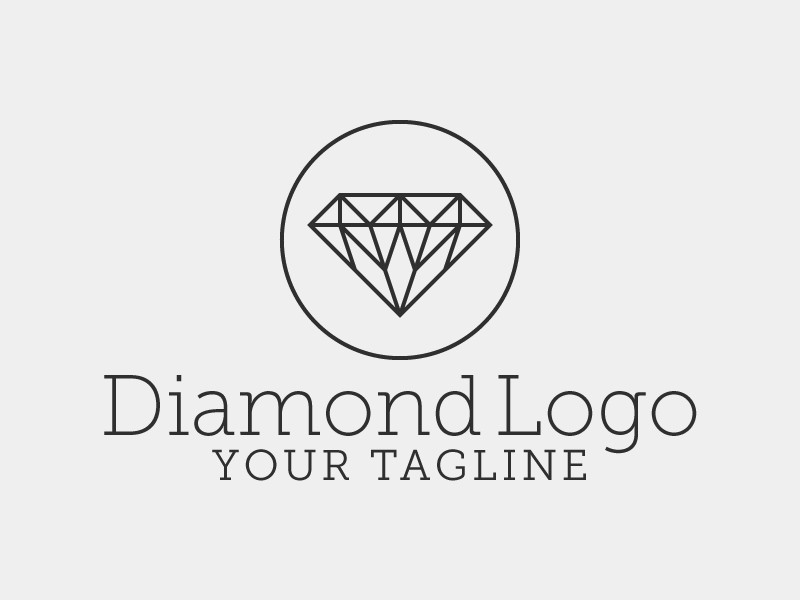 logotype line emblem stock logo template download use abstract of label vector sign to simple style easy illustration diamond